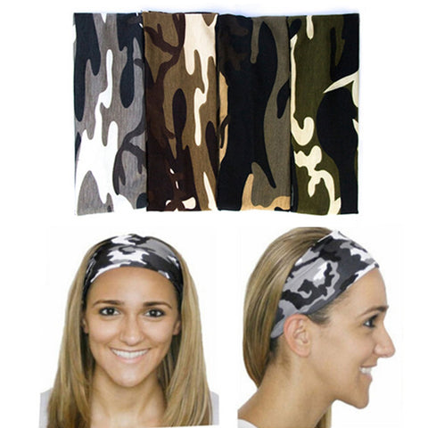 Furling Free Shipping Fashion Women Camo Sport  Headwrap