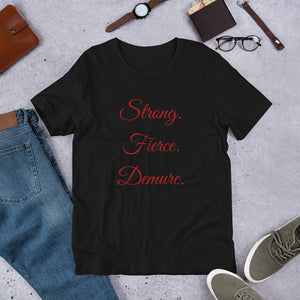 Short-Sleeve Strong Fierce Demure Tee