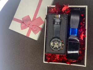 Men's Gift Set 4 (Curren watch + Belt)