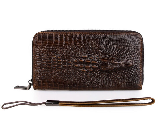 Men's Long wallet/clutch bag-Crocodile