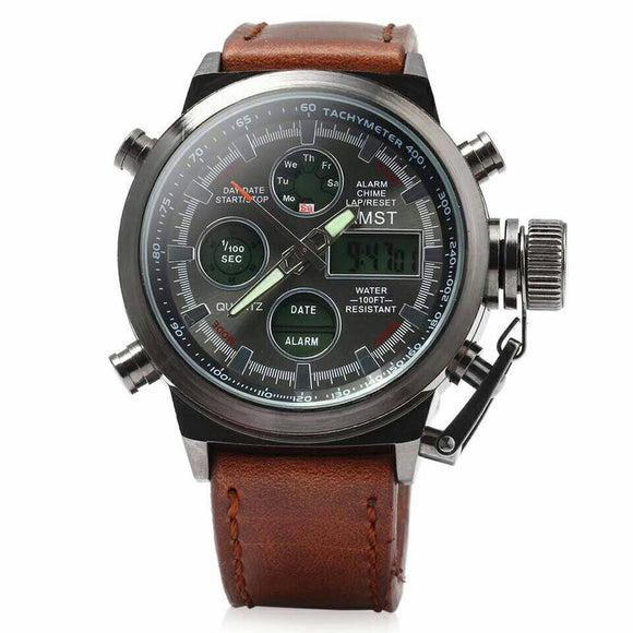 Amst leather watch