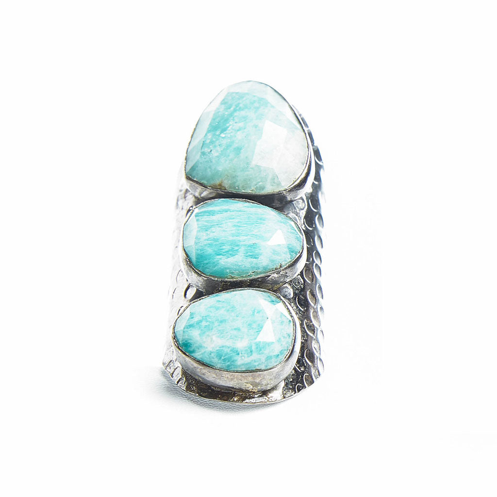 Large Vertical Stone Adjustable Ring