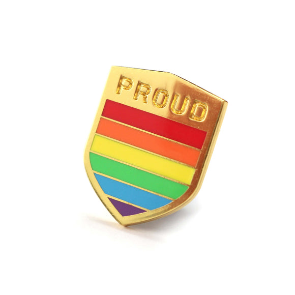 Proud LGBTQ+ Badge Enamel Pin