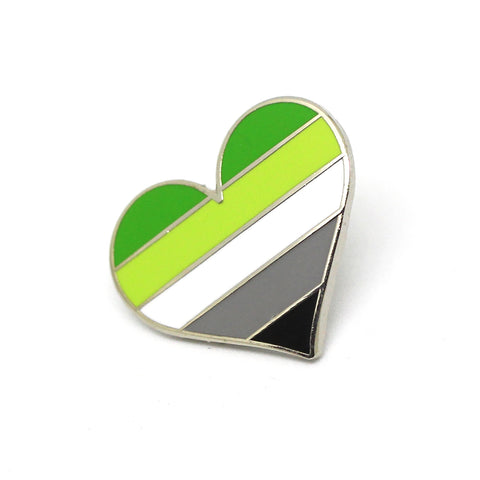 Aromantic Pride Enamel Pin