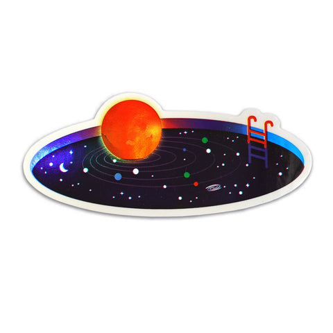 Space Pool Holographic Sticker