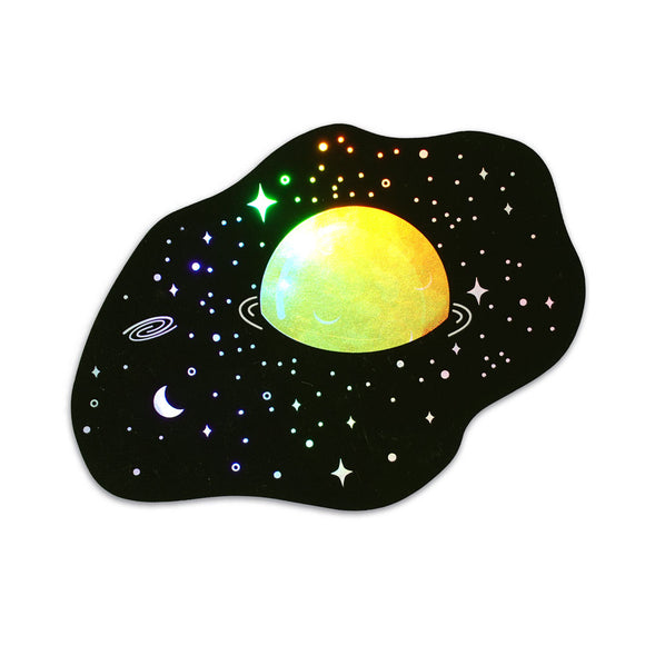 Egg Planet Holographic Sticker