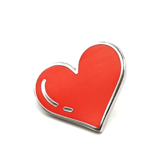 Red Heart Enamel Pin