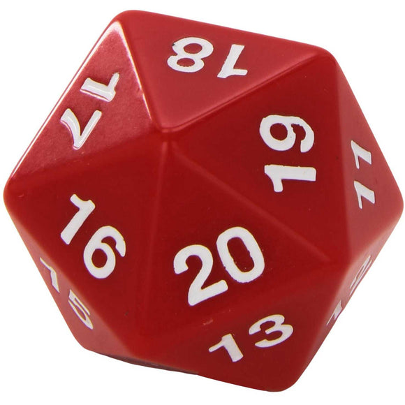 55mm Countdown d20, Red
