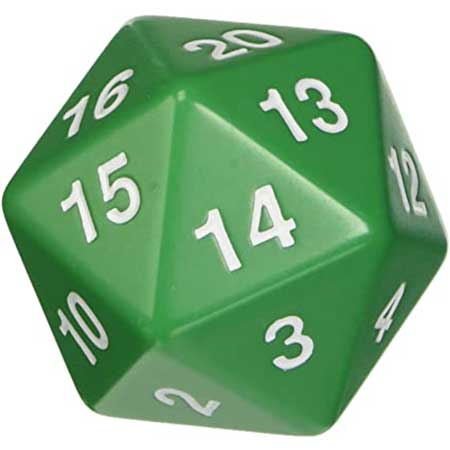 55mm Countdown d20, Green