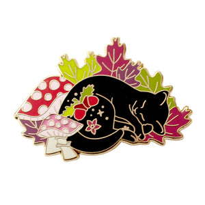 Fall Cat Enamel Pin