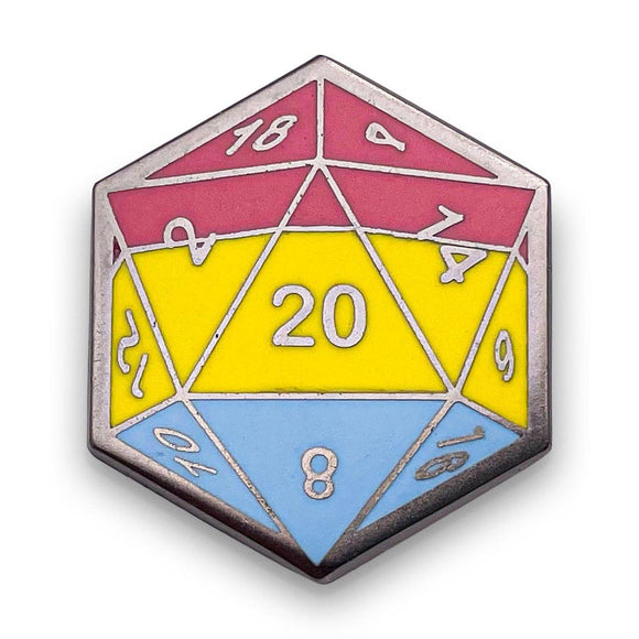 d20 Pansexual Pride Pin