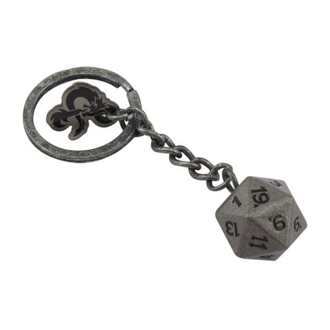 Dungeons & Dragons d20 Metal Key Chain