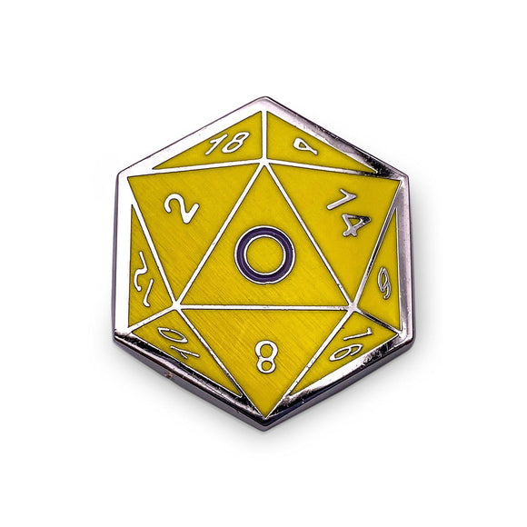 d20 Intersex Pride Pin