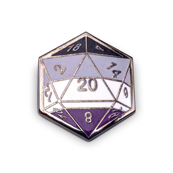 d20 Asexual Pride Pin