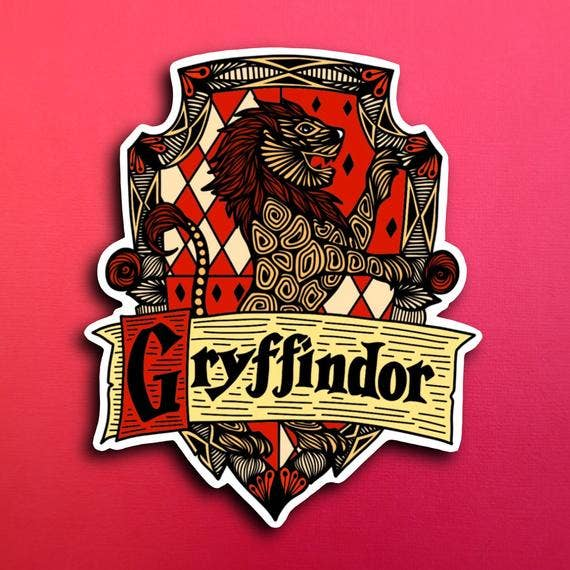 Harry Potter House Gryffindor Sticker