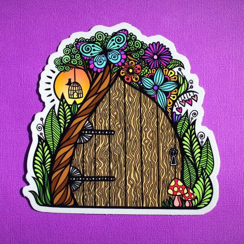 Hobbit Fairy Door Sticker