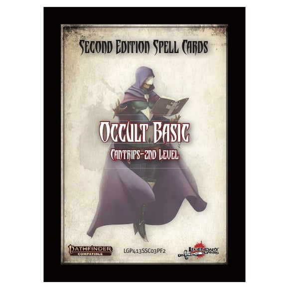 Pathfinder 2E Spellbook Cards: Occult Basic