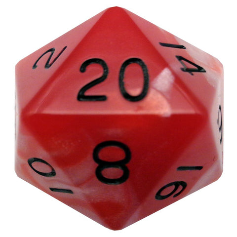 35mm Mega d20, Red & Black