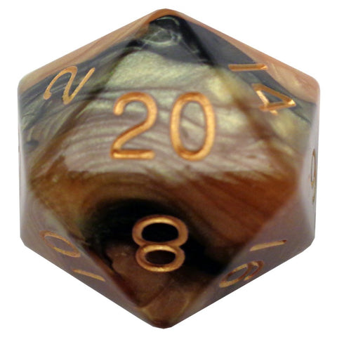35mm Mega d20, Black-Yellow Gold