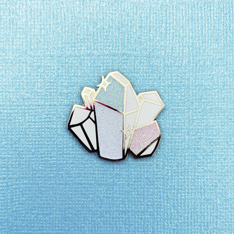 Moonstone Crystal Enamel Pin