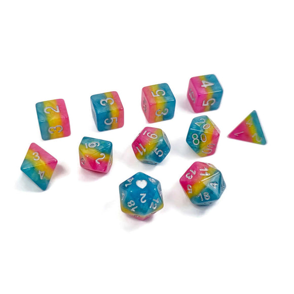 HeartBeatDice 11-Set: Pansexual Pride