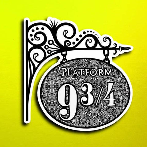 Harry Potter Platform 9&3/4 Sticker