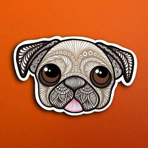 Pug Face Sticker