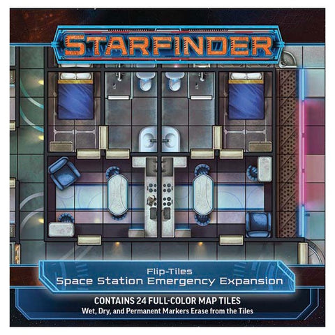 Starfinder Flip Tiles: Space Station Emergency Expansion