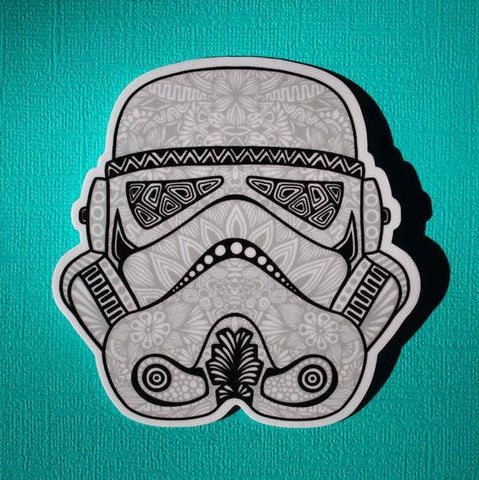 Star Wars Stormtrooper Helmet Sticker