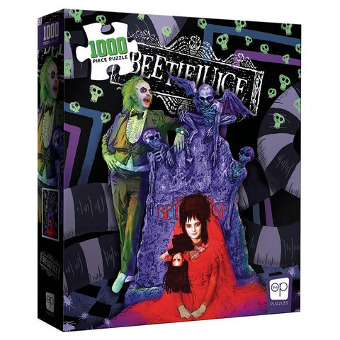 1,000-pc Puzzle: Beetlejuice Graveyard Wedding