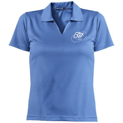 Cloud White OBX Lyfe Ladies' Dri-Mesh Short Sleeve Polo in 13 Colors