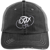 Cloud White OBX Lyfe Distressed Unstructured Trucker Cap in 2 Colors