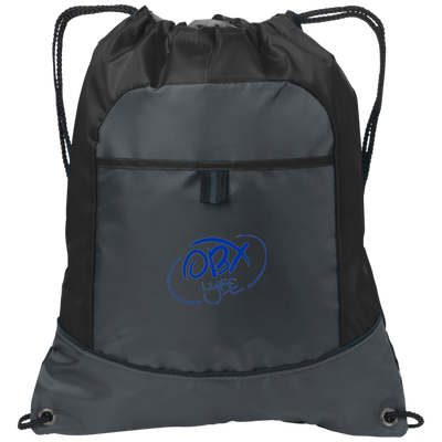 Embroidered Ocean Blue OBX Lyfe Port Authority Pocket Cinch Pack in 5 Colors