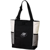 Embroidered Cloud White OBX Lyfe Port Authority Colorblock Zipper Tote Bag in 6 Colors