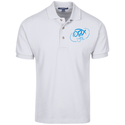 Sky Blue OBX Lyfe Port Authority Cotton Pique Knit Polo In 18 Colors