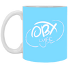 Cloud White OBX Lyfe 11 oz. White Mug in 11 Colors