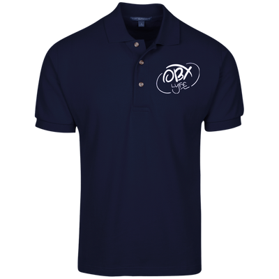 Cloud White OBX Lyfe Port Authority Cotton Pique Knit Polo in 19 Colors
