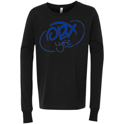 OBX Lyfe Ocean Blue Bella + Canvas Youth Jersey Long Sleeve T-Shirt in 2 Colors
