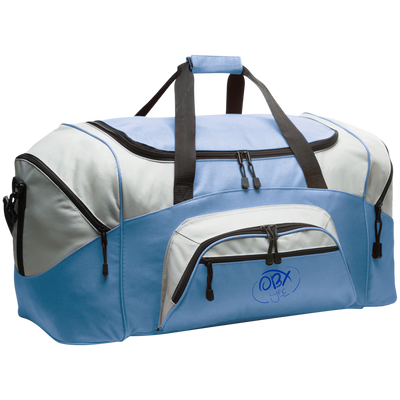 Embroidered Ocean Blue OBX Lyfe Port & Co. Colorblock Sport Duffel in 4 Colors