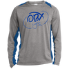 Ocean Blue OBX Lyfe Long Sleeve Heather Colorblock Poly T-Shirt in Multiple Colors