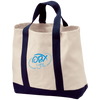Embroidered Sky Blue OBX Lyfe Port & Co. 2-Tone Shopping Tote in 5 Colors