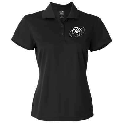 Cloud White OBX Lyfe Adidas Golf Women's ClimaLite Basic Performance Pique Polo in 3 Colors