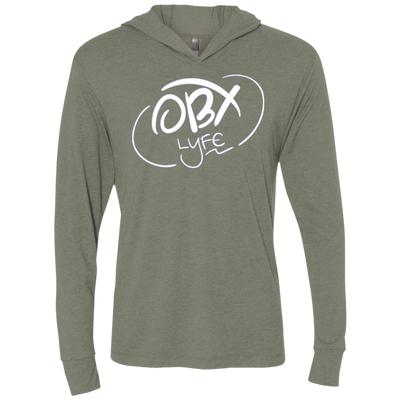 Cloud White OBX Lyfe Unisex Triblend LS Hooded T-Shirt in 12 Colors