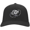 Cloud White OBX Lyfe Port Authority Flex Fit Twill Baseball Cap in 10 Colors