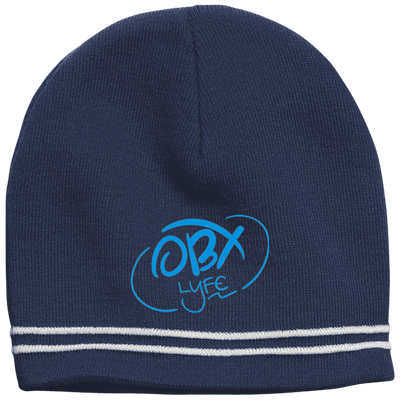 Sky Blue OBX Lyfe Colorblock Beanie in 2 Colors