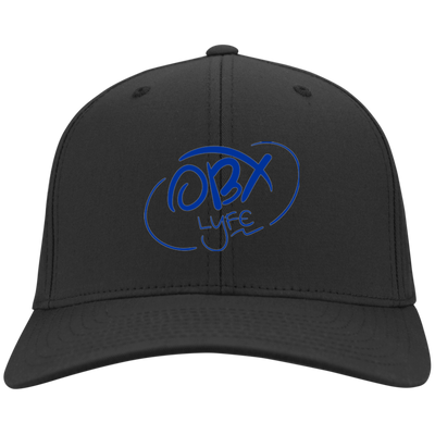 Ocean Blue OBX Lyfe Port Authority Flex Fit Twill Baseball Cap in 10 Colors