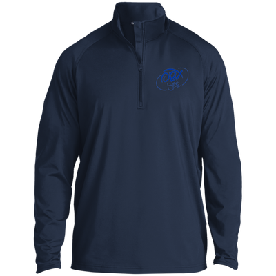 Ocean Blue OBX Lyfe 1/2 Zip Raglan Performance Pullover in 9 Colors