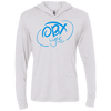 Sky Blue OBX Lyfe Unisex Triblend LS Hooded T-Shirt in Multiple Colors