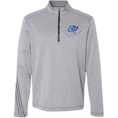 Ocean Blue OBX Lyfe Adidas Men's Terry Heather 1/4 Zip in 4 Colors