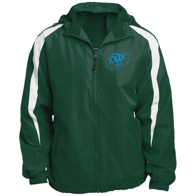 Sky Blue OBX Lyfe Fleece Lined Colorblocked Hooded Jacket in 6 Colors